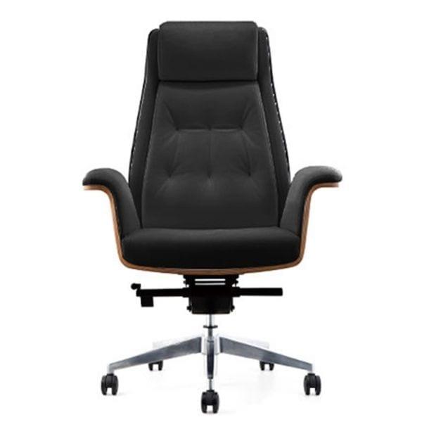 เก้าอี้ผู้บริหารไม้หุ้มเบาะ เก้าอี้สำนักงานไม้หุ้มหนัง