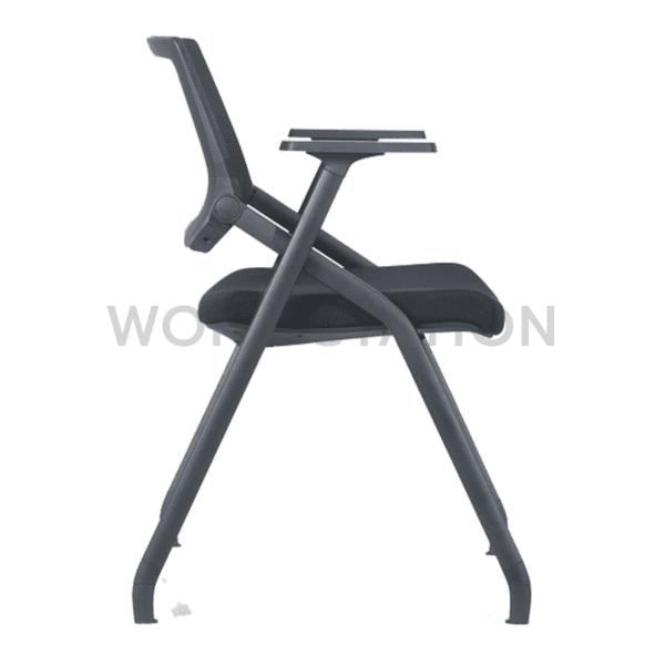เก้าอี้เลคเชอร์ สีดำขาตรง