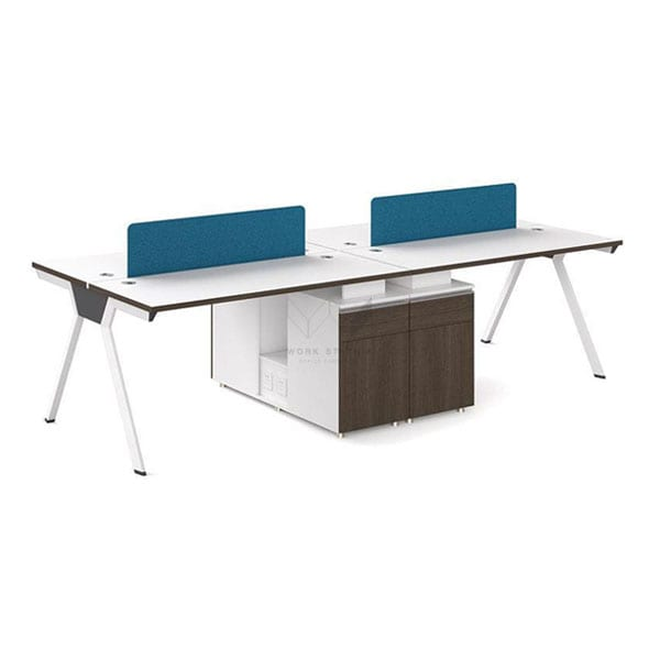 โต๊ะทำงานหลายที่นั่ง โต๊ะทำงาน 4 ที่นั่ง