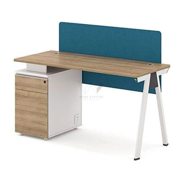 ชุดโต๊ะ เฟอร์นิเจอร์ โต๊ะทำงาน พร้อมตู้เก็บเอกสาร ขาโต๊ะทรงไอเฟล