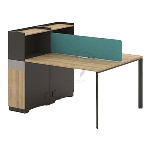 ชุดโต๊ะพร้อมทำงาน สำนักงาน พร้อมตู้ข้าง เสริมชั้นวางของ