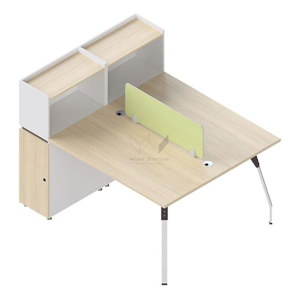 โต๊ะทำงานเสริมชั้นวาง