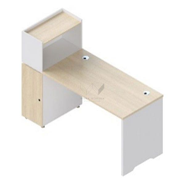 โต๊ะพร้อมชั้นวาง เสริมชั้นวางของด้านบน