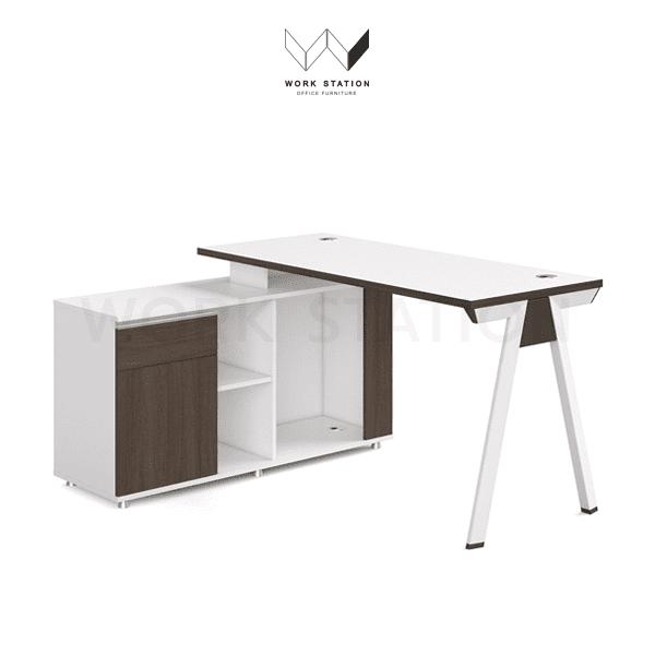 โต๊ะทำงาน ท็อปสีขาว