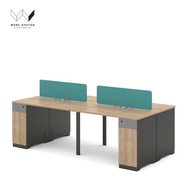 โต๊ะทำงานพร้อมตู้ข้าง , โต๊ะสำนักงาน 4 ที่นั่ง