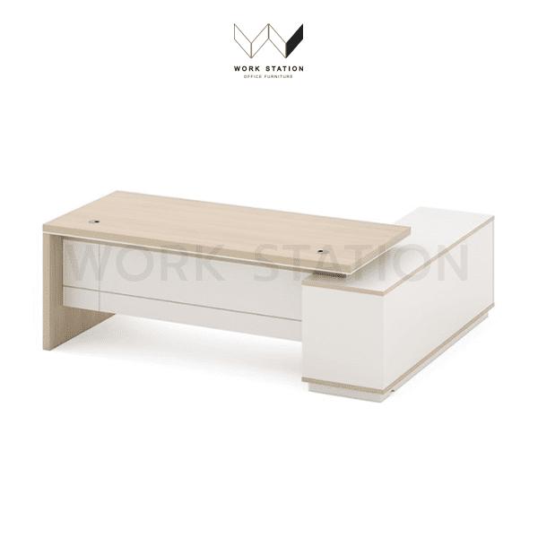 โต๊ะทำงานผู้บริหาร สีขาว