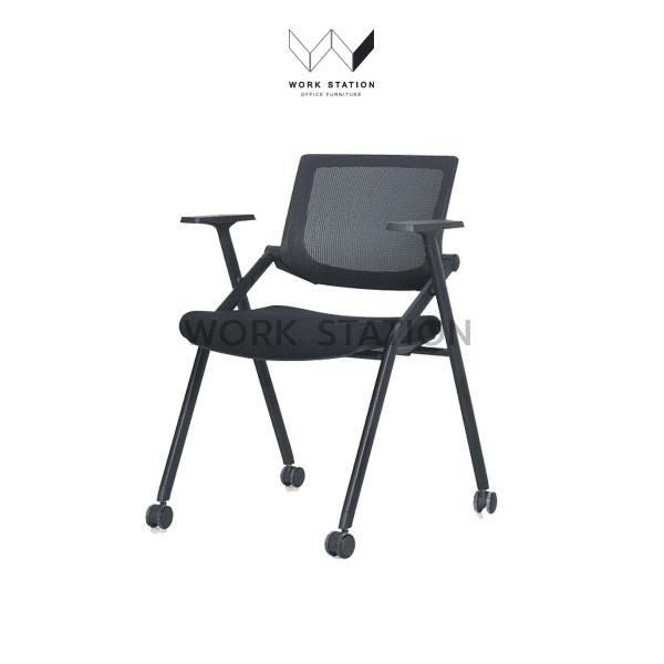 เก้าอี้เลคเชอร์ สีดำ มีล้อ