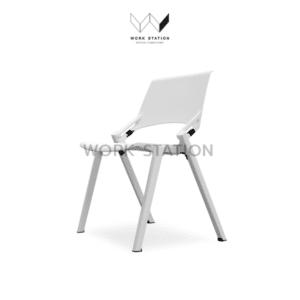 เก้าอี้พับ เก้าอี้เลคเชอร์ สีขาว