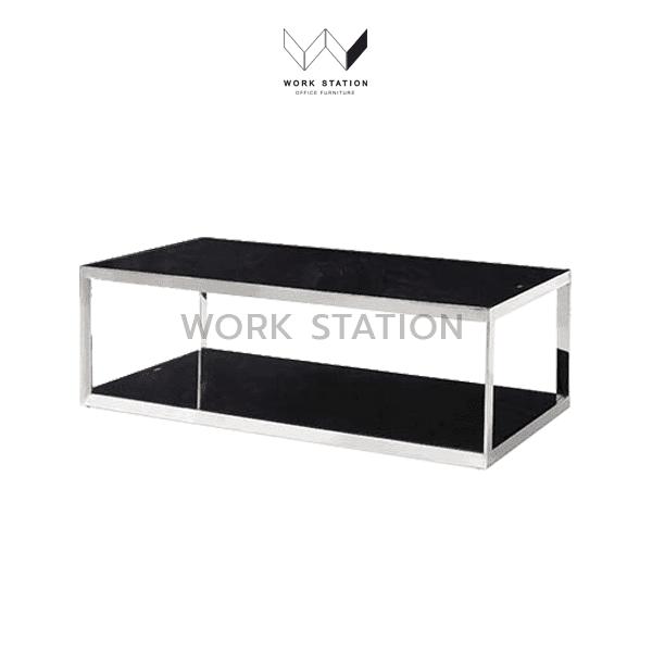 โต๊ะกลาง กระจกสีดำ
