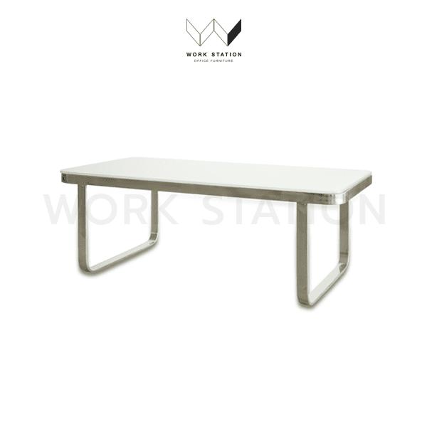 โต๊ะกลาง กระจก สีขาว WS-SZ-Y-17A-WH
