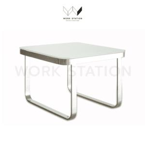 โต๊ะกลาง กระจก สีขาว WS-SZ-Y-17B-WH