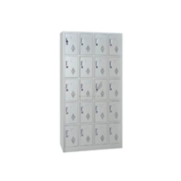 ตู้ล็อคเกอร์ 20 ช่อง สีขาว