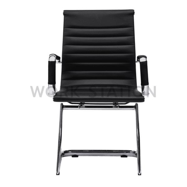 เก้าอี้สำนักงานสีดำ ไม่มีล้อ