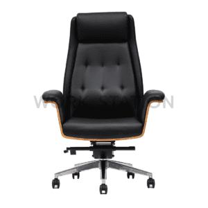 เก้าอี้ผู้บริหารไม้หุ้มเบาะ เก้าอี้ไม้