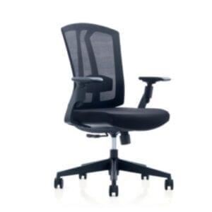 เก้าอี้สำนักงาน ปรับระดับได้ หุ้มตาข่ายสีดำ รุ่น 267B
