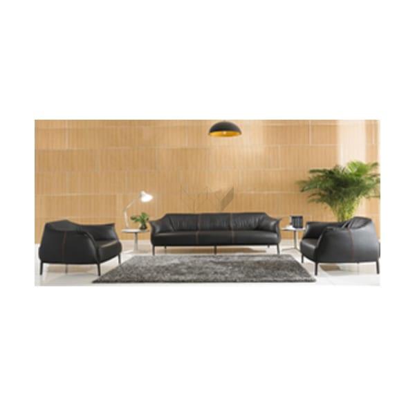 โซฟา ห้องรับแขก ตกแต่งบ้าน คานสแตนเลสพ่นสีดำ พร้อมโครงขาเหล็กสีดำ