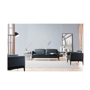 โซฟาหนังสีดำ เก้าอี้โซฟา