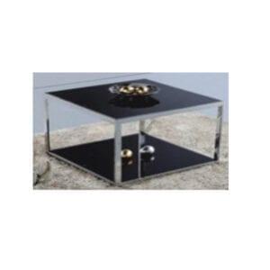 โต๊ะกาแฟ โต๊ะกระจก Tempered Glass สีดำ