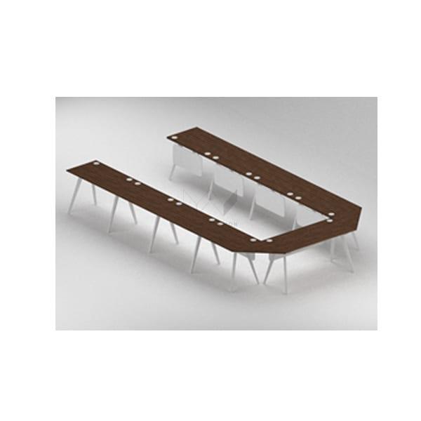 โต๊ะประชุมขนาดใหญ่ทรงตัวยู