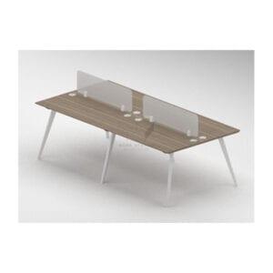 โต๊ะทำงานโต๊ะทำงานกลุ่มทรงเหลี่ยม 4 ที่นั่ง