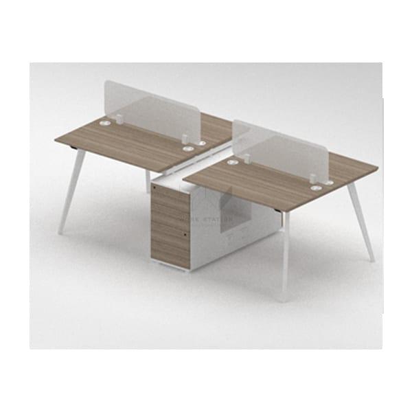 โต๊ะทำงานพร้อมตู้กลาง