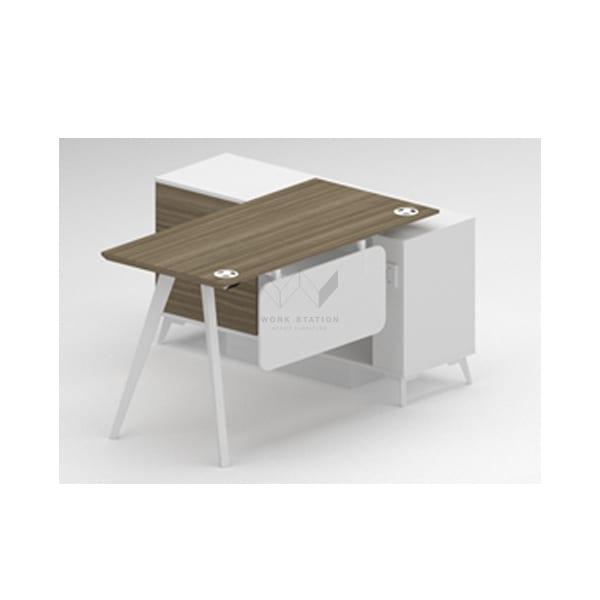 โต๊ะทำงานสีไม้-ขาว
