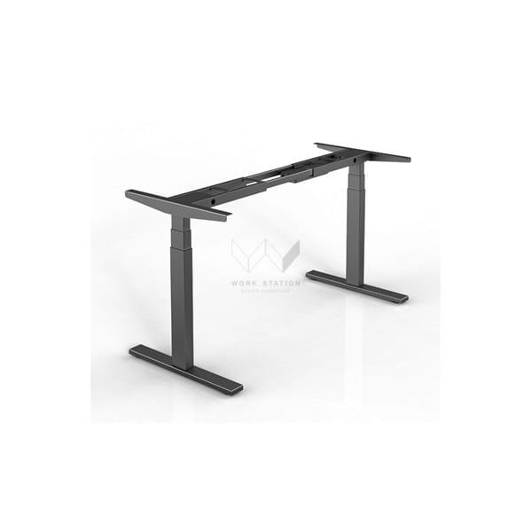 โต๊ะปรับระดับได้ ปรับระดับด้วยระบบไฟฟ้า โต๊ะเพื่อสุขภาพ สีดำ