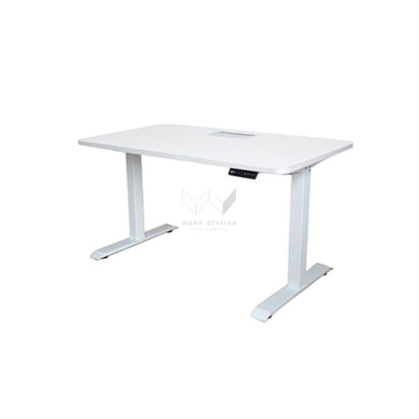 โต๊ะเพื่อสุขภาพ โต๊ะปรับระดับได้ สีขาว
