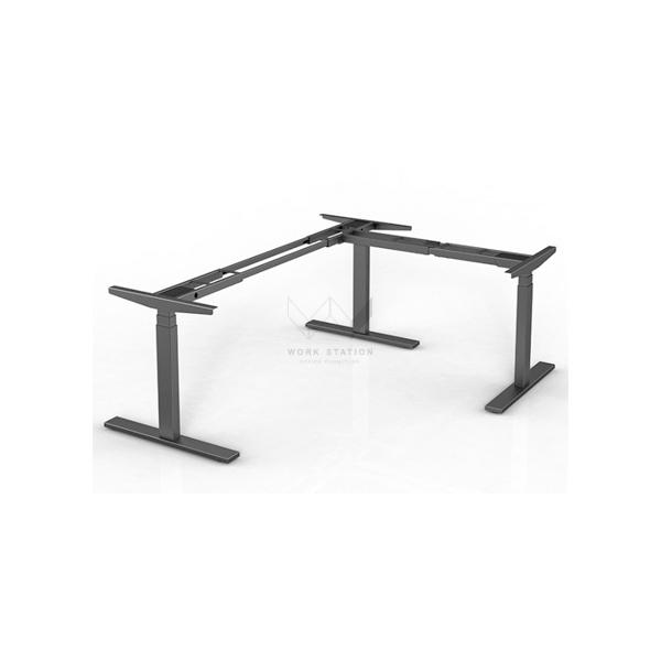 โต๊ะเพื่อสุขภาพ โต๊ะปรับระดับได้ สีดำ