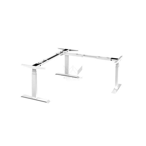 โต๊ะปรับระดับได้ 3 ขา ปรับระดับด้วยระบบไฟฟ้า โต๊ะเพื่อสุขภาพ สีขาว