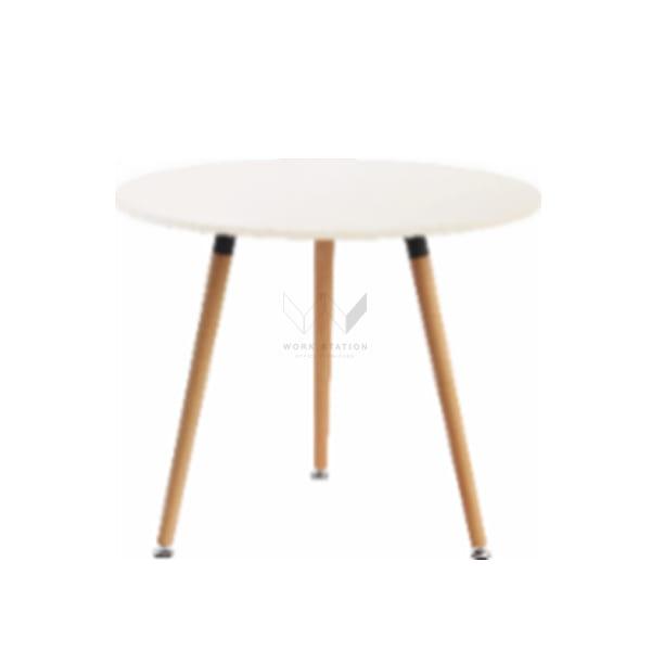 โต๊ะกาแฟ โต๊ะประชุม 3 ขา สีขาว รุ่น WS-WH-27EZF005