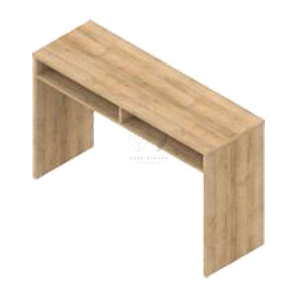 โต๊ะเทรนนิ่ง พร้อมลิ้นชักในตัว สีไม้