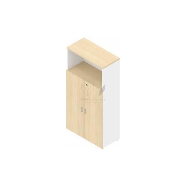 ตู้เก็บเอกสารทรงสูง บางเปิดพร้อมชั้นวางของด้านบน