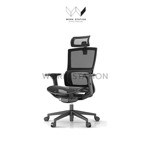 เก้าอี้สำนักงานเพื่อสุขภาพ WORK STATON OFFICE สีดำ